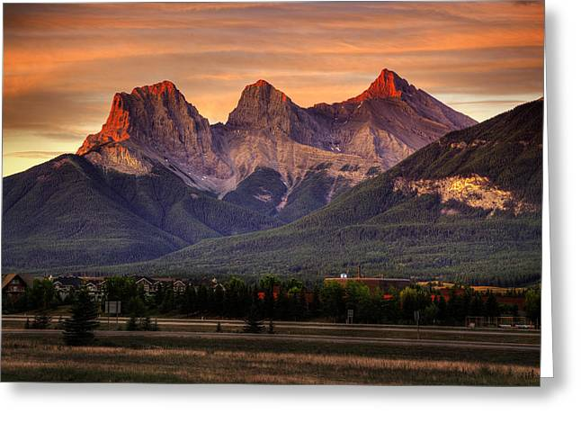 The Three Sisters Canmore Greeting Card