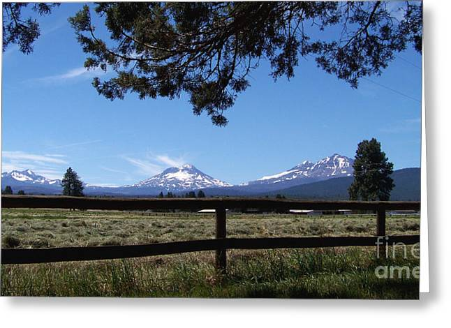 The Three Sisters Panorama Greeting Card