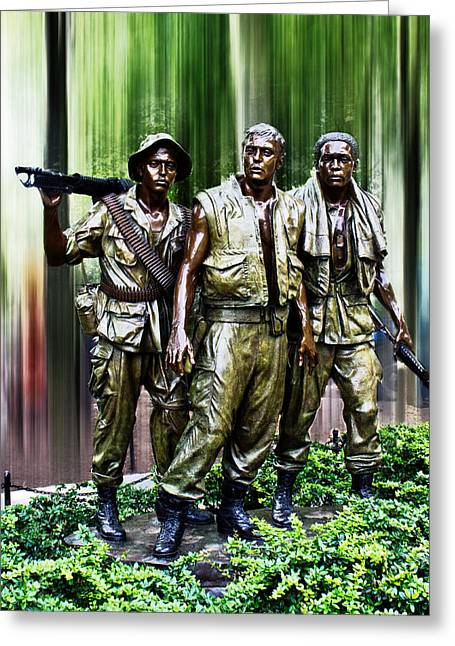 The Three Soldiers Greeting Card