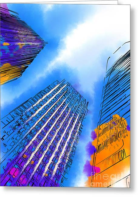 The Three Towers Greeting Card