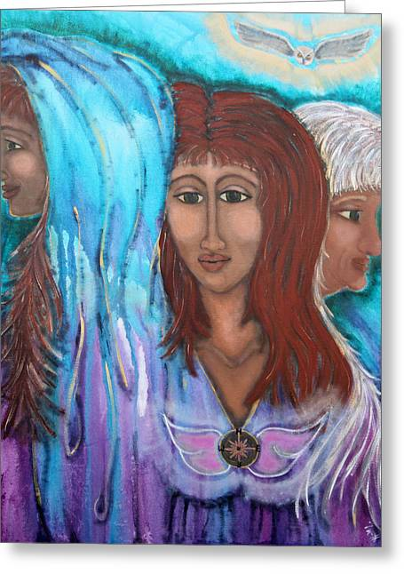 The Three Greeting Card by Wendy Hassel