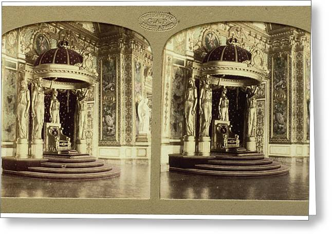 The Throne Palais Du Senat Paris France, Florent Grau Greeting Card by Artokoloro