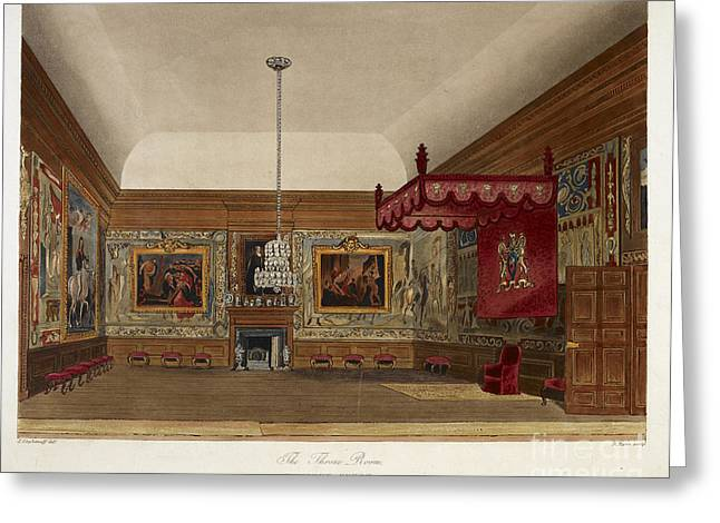 The Throne Room, Hampton Court Greeting Card by British Library