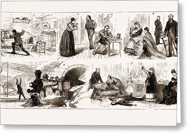 The Tichborne Case In Paris, France, 1875 Greeting Card by Litz Collection