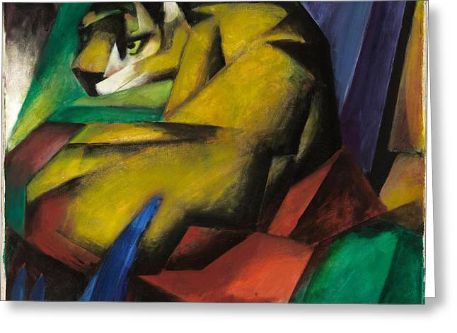The Tiger Greeting Card by Franz Marc