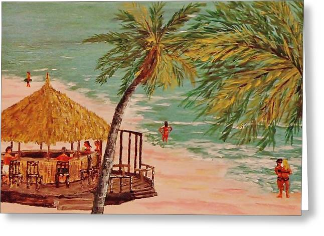 The Tiki Bar Is Open Greeting Card