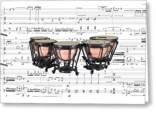 The Timpani Greeting Card by Ron Davidson