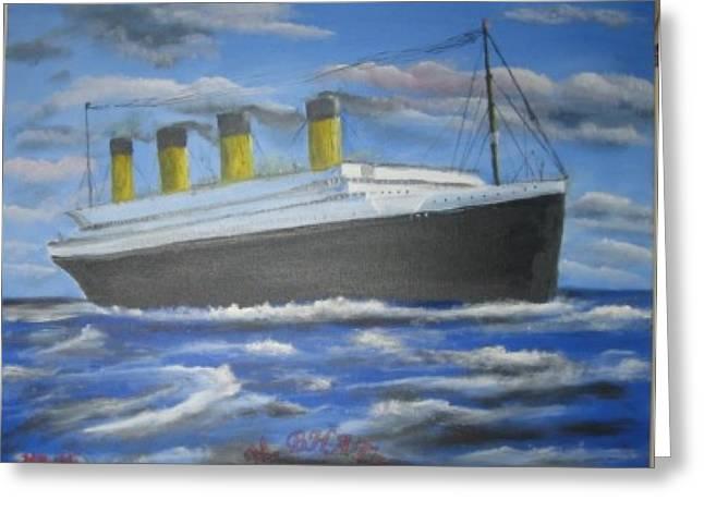 The Titanic Greeting Card by M Bhatt