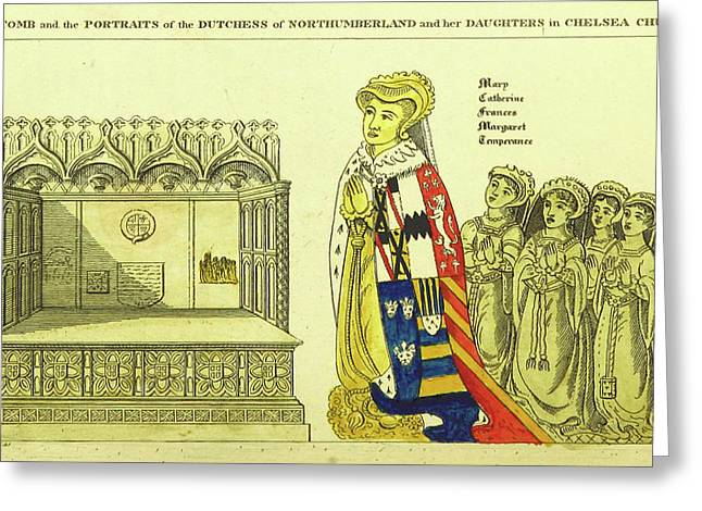 The Tomb And Portraits Of The Dutchess Of Northumberland Greeting Card