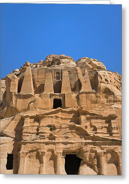 The Tomb Of Obelisks, Petra, Jordan Greeting Card by Keren Su
