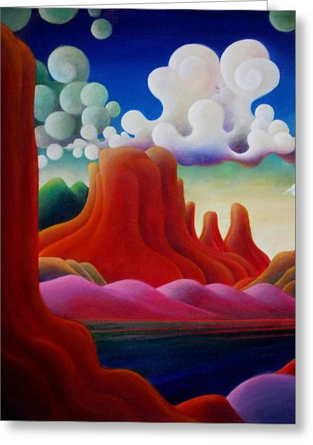 Greeting Card featuring the painting The Tomb_lake Powell II by Richard Dennis