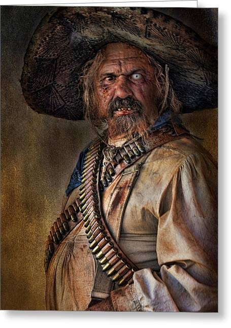 The Tombstone Bandito Greeting Card by Barbara Manis
