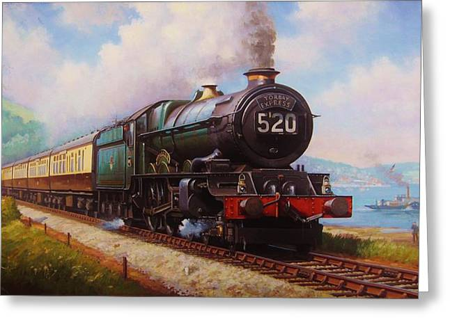 The Torbay Express. Greeting Card by Mike  Jeffries