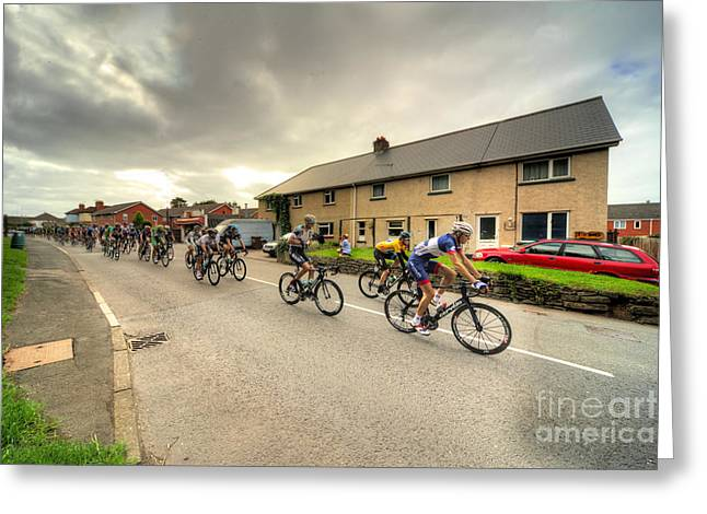 The Tour Of Britain At Willand  Greeting Card by Rob Hawkins