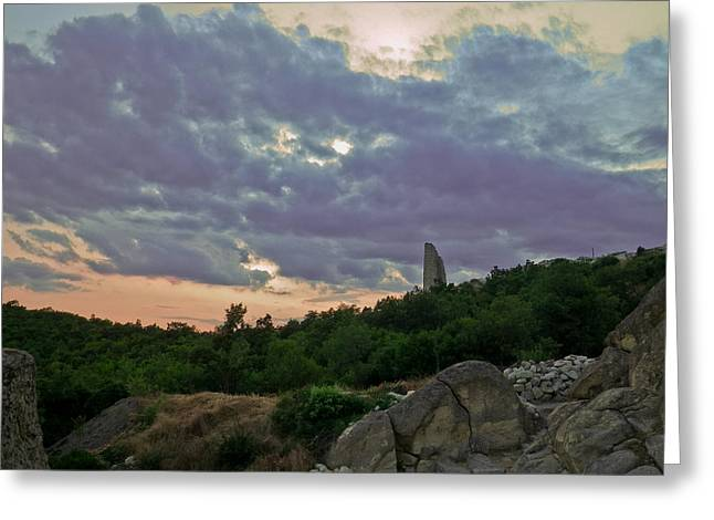 Greeting Card featuring the photograph The Tower by Eti Reid