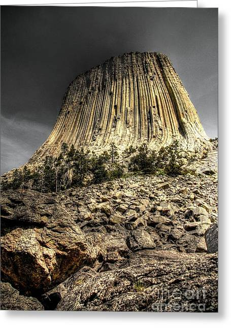 The Tower Of Boulders Greeting Card