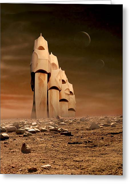 The Towers Of Icarus II Greeting Card