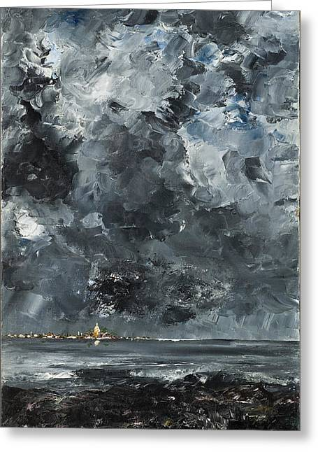 The Town Greeting Card by August Strindberg