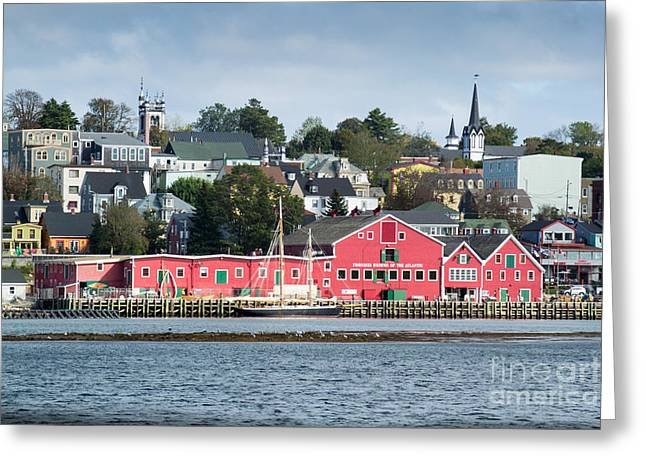 The Town Of Lunenburg Greeting Card
