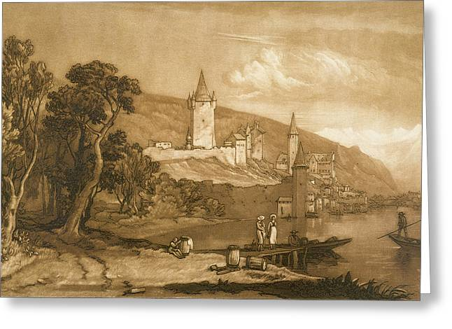 The Town Of Thun Greeting Card by Joseph Mallord William Turner