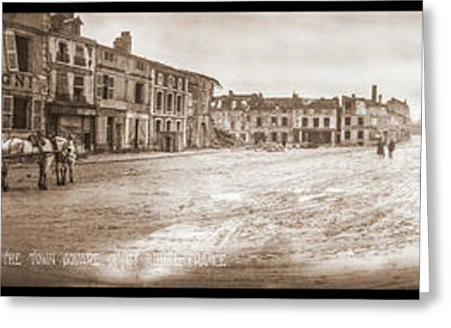 The Town Square Of St Mihiel, France Greeting Card