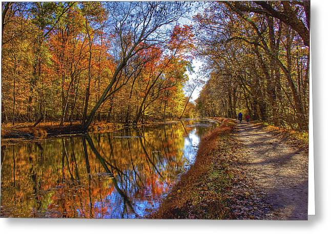 The Towpath Greeting Card by Kathi Isserman