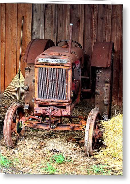 The Tractor Greeting Card by John Freidenberg