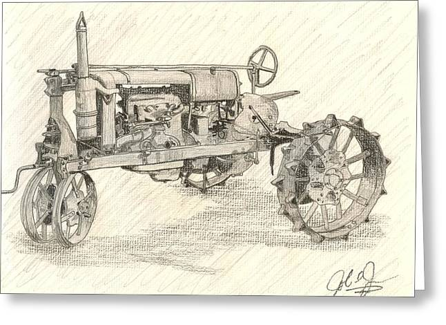 The Tractor Greeting Card by John Jones