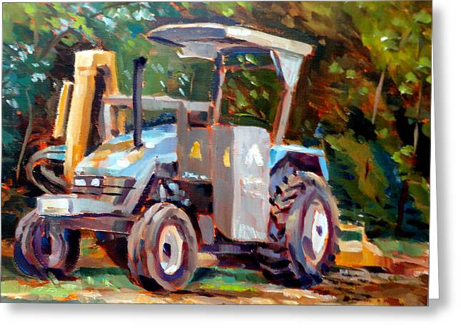 The Tractor Greeting Card by Mark Hartung