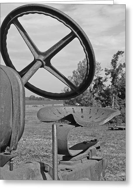 The Tractor Seat Greeting Card by Heather Allen