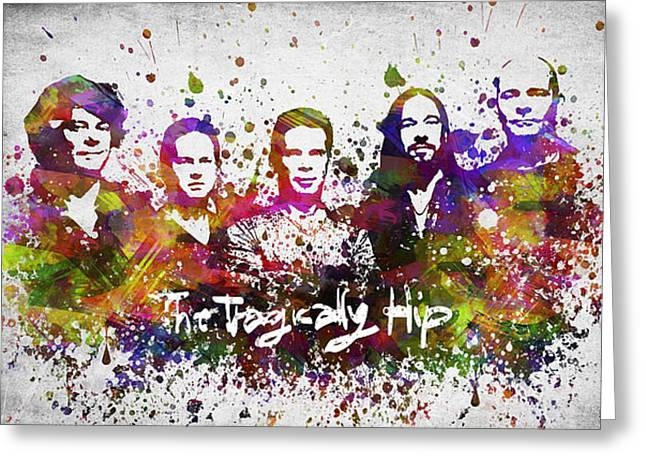 The Tragically Hip In Color Greeting Card by Aged Pixel