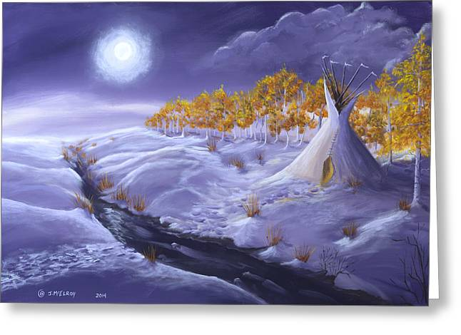 The Trail Home Greeting Card by Jerry McElroy
