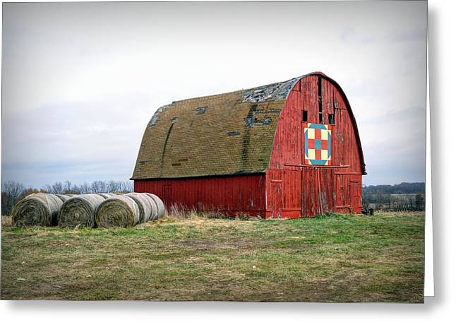 The Trails Quilt Barn Greeting Card by Cricket Hackmann