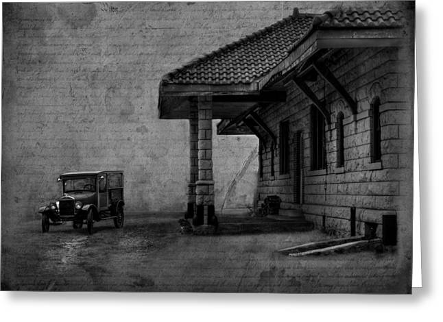 The Train Station Greeting Card by Thomas Young