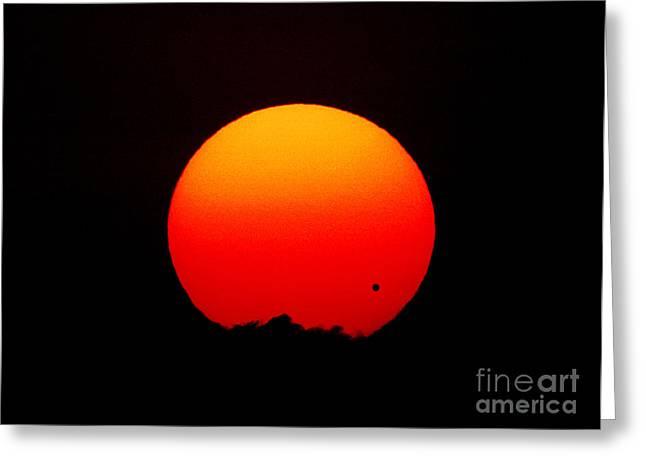 The Transit Of Venus At Sunrise Greeting Card