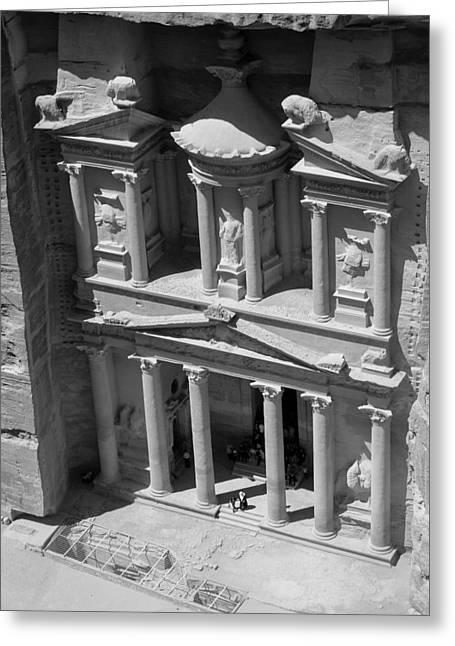 The Treasury At Petra Greeting Card by Paul Cowan