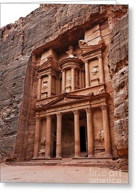 The Treasury In Petra Jordan Greeting Card