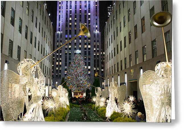 The Tree At Rockefeller Center Greeting Card by Kenneth Cole