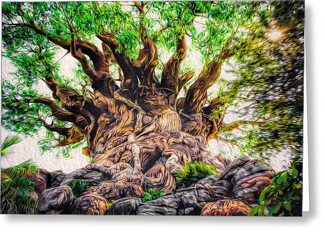 Greeting Card featuring the photograph The Tree by Joshua Minso