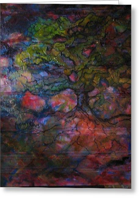 The Tree Of Life Greeting Card by Kendra Sorum