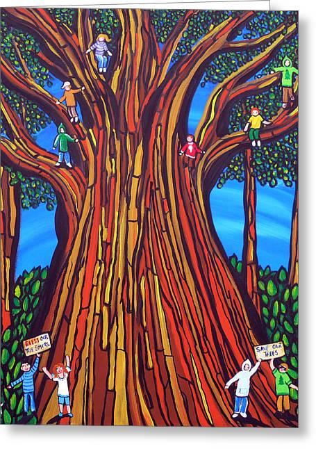 The Tree Sitters Greeting Card by Renie Britenbucher