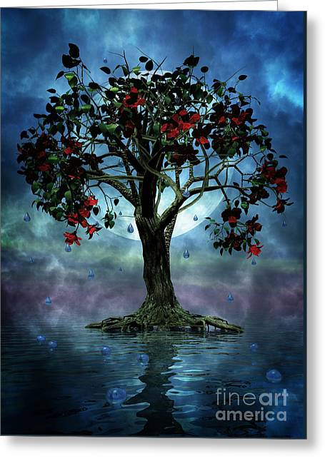 The Tree That Wept A Lake Of Tears Greeting Card