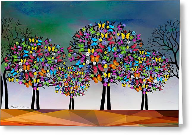 The Trees  Greeting Card by Mark Ashkenazi