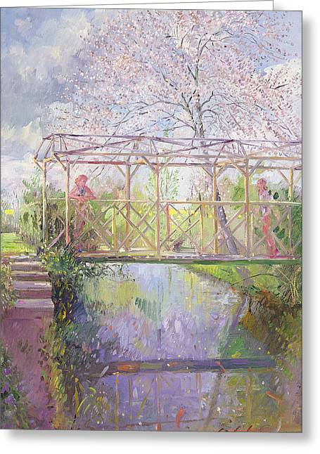 The Trellis Crossing Greeting Card by Timothy Easton