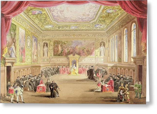 The Trial, Act Iv, Scene I From Charles Greeting Card by F. Lloyds
