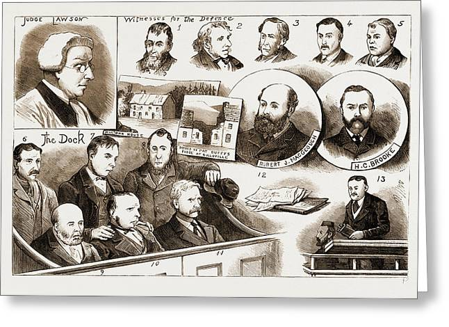 The Trial At Belfast Of Members Of The Irish Patriotic Greeting Card by Litz Collection