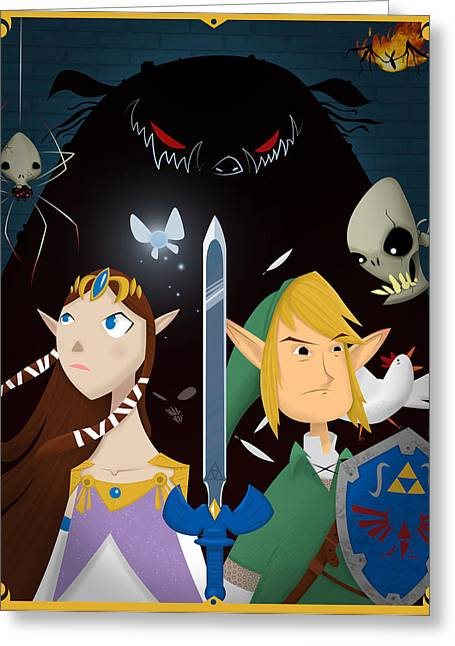 The Triforce Of Awesome Greeting Card