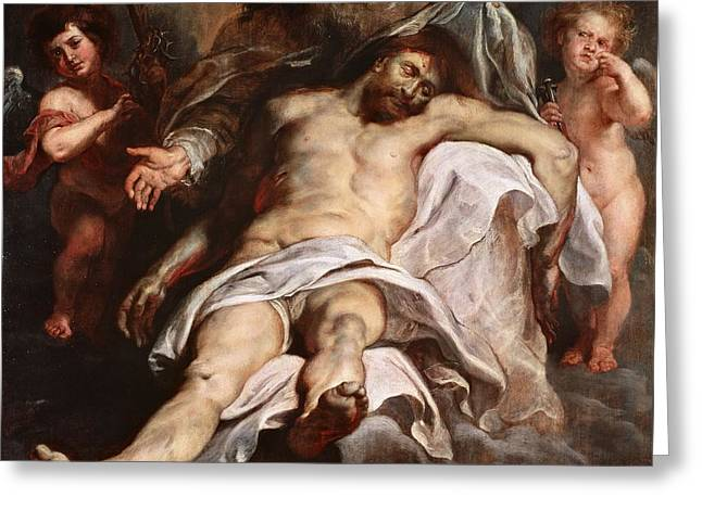 The Trinity Greeting Card by Peter Paul Rubens