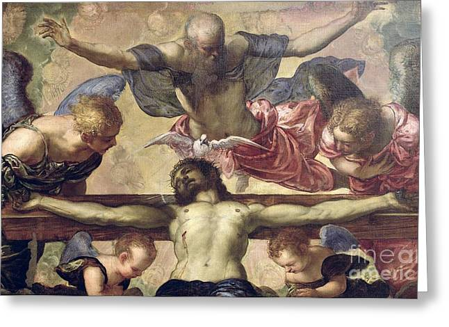 The Trinity Greeting Card by Tintoretto