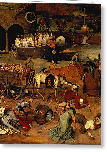 The Triumph Of Death Greeting Card by Pieter the Elder Bruegel